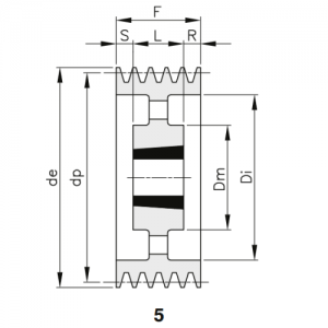 MGB - Клиновой ременный шкив SPC 710 10