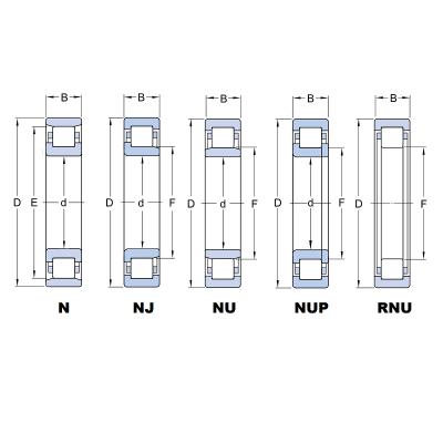 MGB - Роликовый радиальный однорядный цилиндрический подшипник NU 207 ET C3
