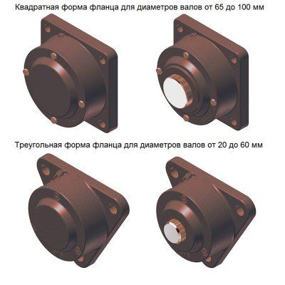 MGB - Разъемная фланцевая чугунная подшипниковая опора 722511 DA (Корпус без подшипника) IBU-IBB