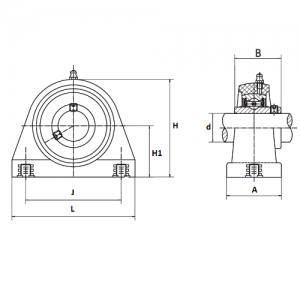 MGB - Корпусной подшипниковый узел с коротким основанием из термопластика UCTBPL211