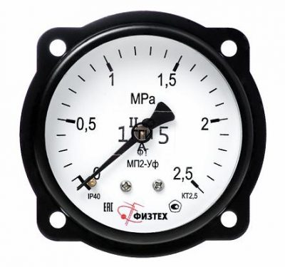 MGB - Манометр МП2-Уф 0-100 кПа кл.т. 2.5 d 63 IP40 G1/4