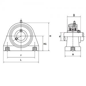 MGB - Корпусной подшипниковый узел с коротким основанием из термопластика UCTBPL208