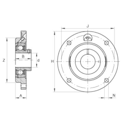 MGB - Корпусной подшипниковый узел с круглым фланцем RVFW50S - PMEY50 PTI