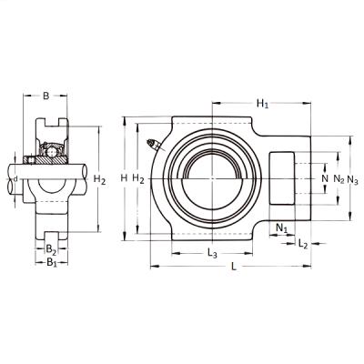 MGB - Натяжной корпусной подшипниковый узел UCT 320 FS