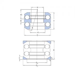MGB - Упорный двойной шарикоподшипник 54416M + U416
