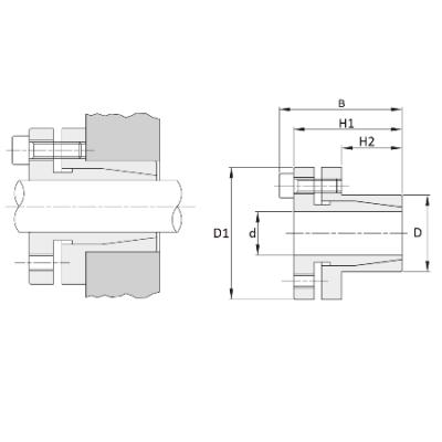 MGB - Бесшпоночная зажимная муфта (втулка) KLTX006