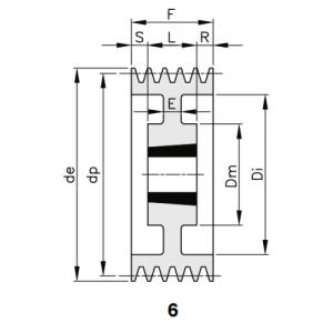 MGB - Клиновой ременный шкив SPC 400 10