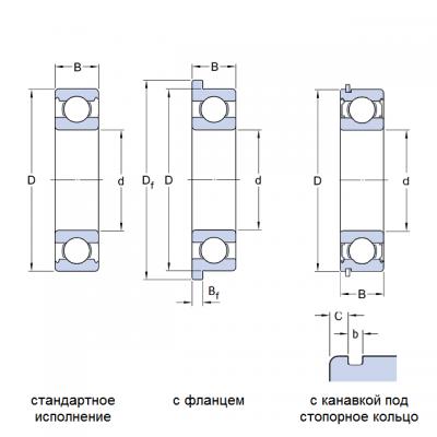 MGB - Однорядный радиальный шарикоподшипник 80101