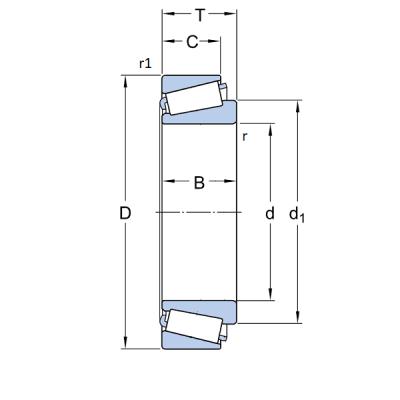 MGB - Роликовый конический однорядный подшипник 30202