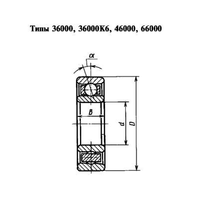 MGB - Однорядный радиально-упорный шарикоподшипник 46116 Л