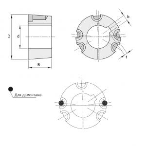 MGB - Втулка коническая Тапербуш ( Taper Bushes ) TB4535 65