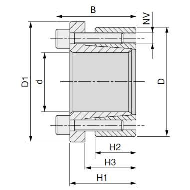 MGB - Бесшпоночная зажимная муфта (втулка) BK16 18x47