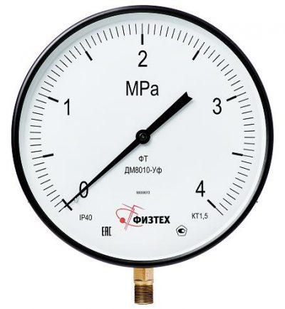 MGB - Котловый манометр ДМ8010-Уф 0-100 кПа кл.т. 1.5 d 250 IP40 М20х1.5 РШ