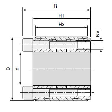 MGB - Бесшпоночная зажимная муфта (втулка) BK11 28x55