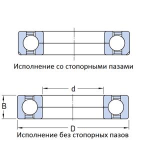 MGB - Радиально-упорный с четырёхточечным контактом шарикоподшипник QJ208 MPA