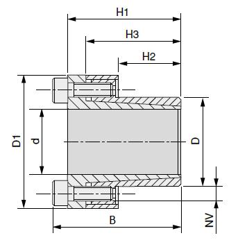 MGB - Бесшпоночная зажимная муфта (втулка) BK80 14x23