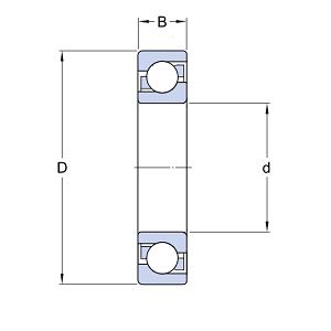 MGB - Высокотемпературный шариковый подшипник 6205 BHTS ZZ C4 220°-250°