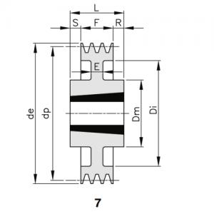 MGB - Клиновой ременный шкив SPA 200 02