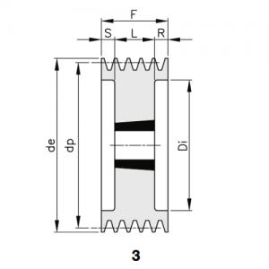 MGB - Клиновой ременный шкив SPC 355 10