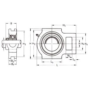 MGB - Натяжной корпусной подшипниковый узел UCT 216 FK