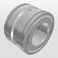 Двухрядные цилиндрические бессепараторные с кольцевыми канавками на наружном кольце тип NNF