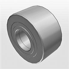Опорные ролики на основе роликоподшипников с фланцевыми кольцами с внутренним кольцом NUTR NATR NATV PWTR