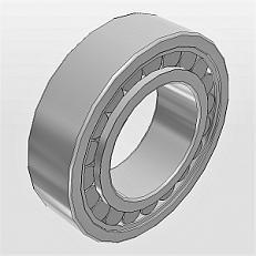 Радиальные с короткими цилиндрическими роликами с однобортовым наружным кольцом NF